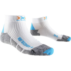 X-Socks Run Discovery New Calcetines Running Mujer, white/turquoise/grey moulinè